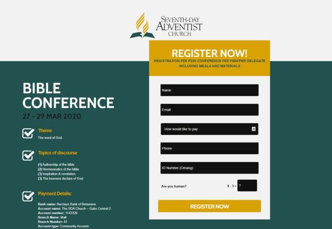 Seventh Day Registration Portal